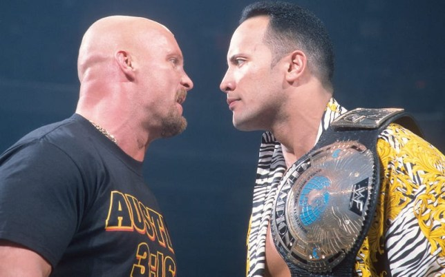 WWE legends 'Stone Cold' Steve Austin and Dwayne 'The Rock' Johnson