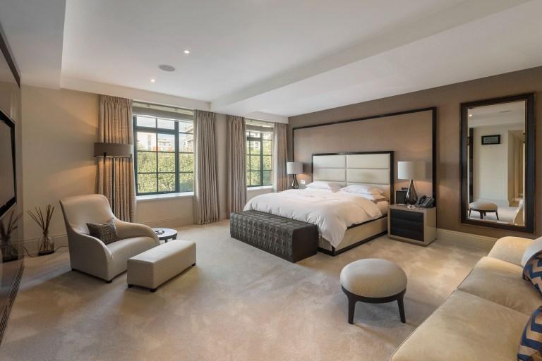 bedroom in trevor square apartment