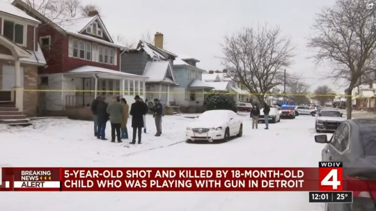 Boy, 5, shot and killed by 18-month-old who was playing with a gun