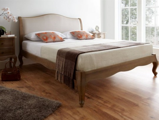 Regency-style oak bed frame