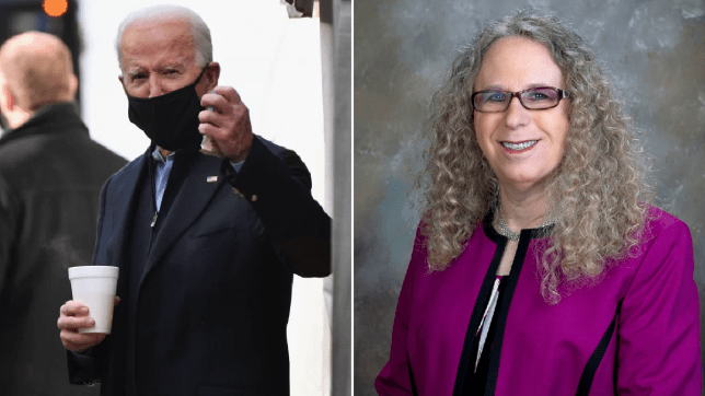 Joe Biden and Rachel Levine