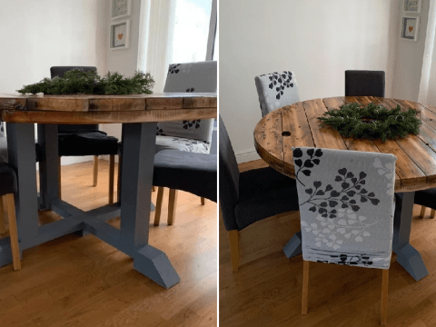 DIY hero recreates £800 dining room table for just £45