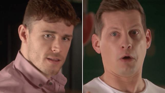George and John Paul in Hollyoaks