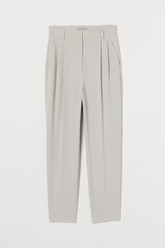 Grey tailored trousers from H&M