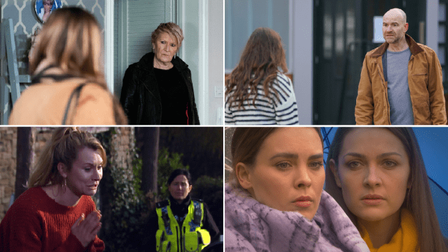Katy and Shirley in EastEnders, Tim and Faye in Coronation Street, Dawn in Emmerdale, Liberty and Sienna in Hollyoaks