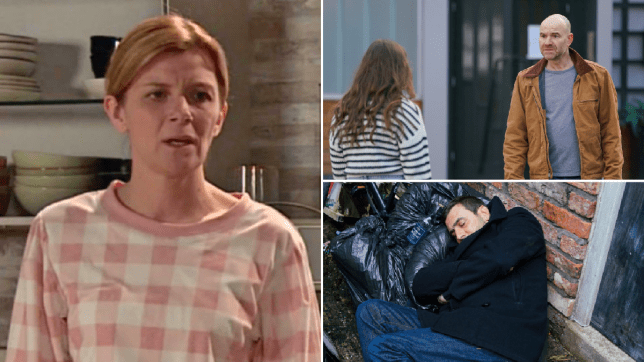Leanne, Peter, Faye and Tim in Coronation Street