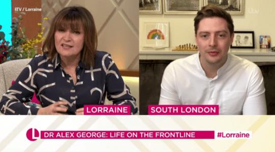 Lorraine Kelly Alex George