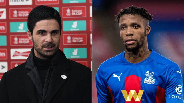 Mikel Arteta responds to Wilfried Zaha's Arsenal transfer comments