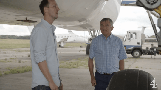 Richard Bentley meets pilot Mike Post in Channel 4 documentary The Man Who Fell From The Sky.