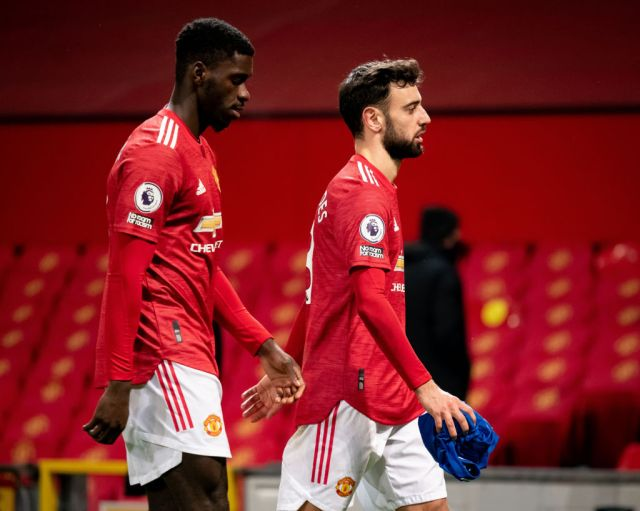 Axel Tuanzebe walk off after Manchester United's Premier League draw with Everton