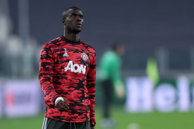 Eric Bailly of Manchester United Fc looks on during warm up...