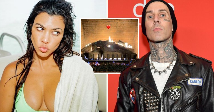 Kourtney Kardashian and Travis Barker share Valentine's ...