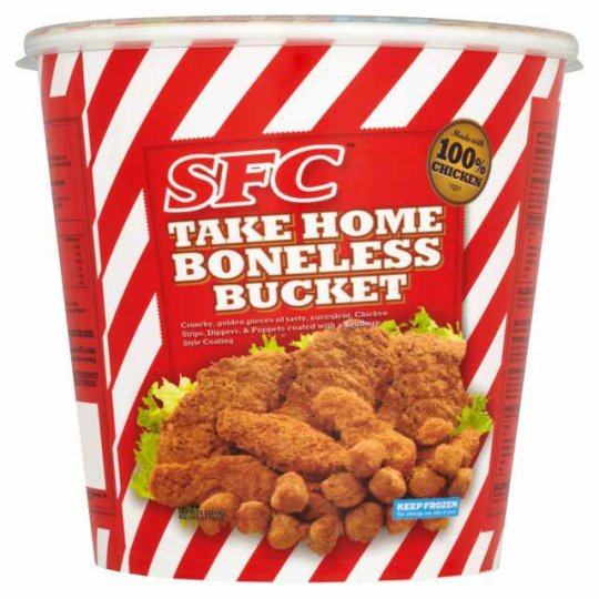 SFC Take Home Boneless Bucket. Five deaths may be linked to salmonella found in various chicken products.