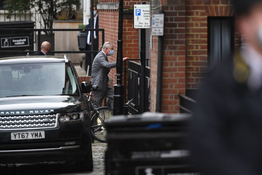 The Prince of Wales arrives at the King Edward VII Hospital in London where the Duke of Edinburgh was admitted on Tuesday evening as a precautionary measure after feeling unwell. Picture date: Saturday February 20, 2021. PA Photo. See PA story ROYAL Philip. Photo credit should read: Kirsty O'Connor/PA Wire