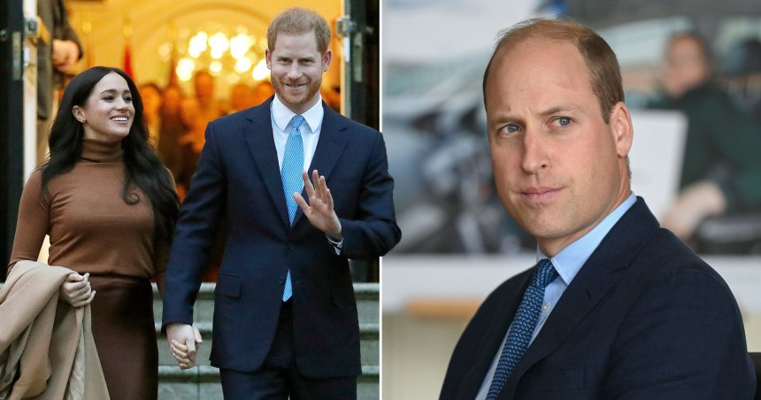 Harry and Meghan. Prince William. Prince William is said to be upset over Harry and Meghan's 'insulting' response to the Queen about service.