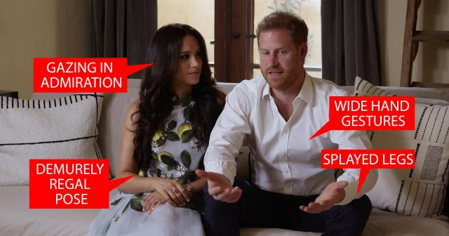 Harry and Meghan body language metro graphic