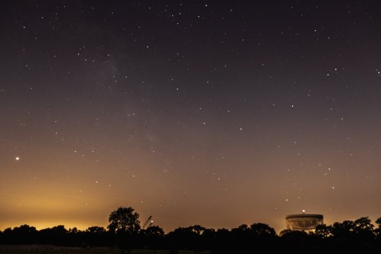 The night sky pictured above Jodrell Bank (Credits: Getty Images/EyeEm)