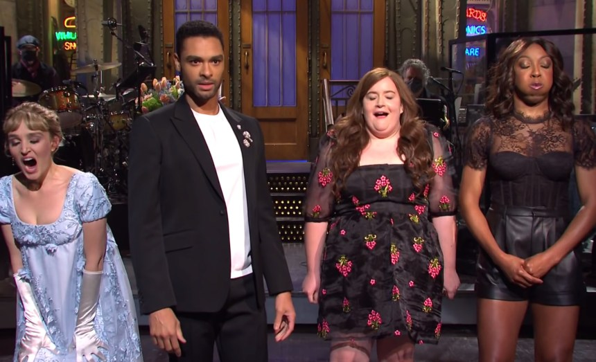 Regé-Jean Page, Chloe Fineman and SNL cast