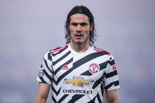 Edinson Cavani looks on during Manchester United's Premier League clash with Crystal Palace