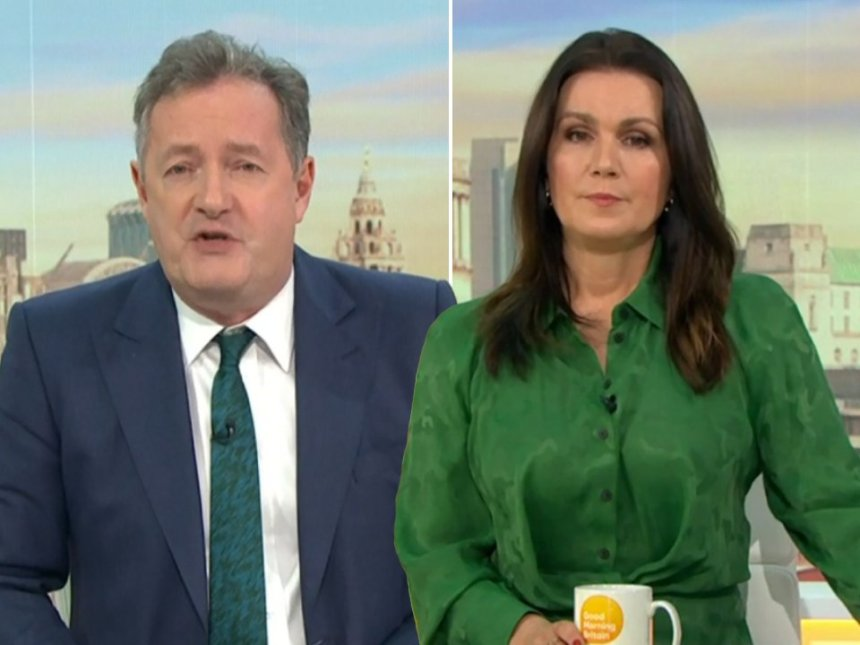 Susanna Reid and Piers Morgan on Good Morning Britain
