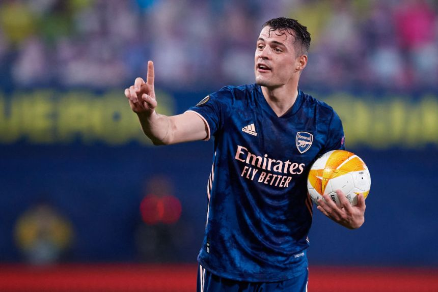 Granit Xhaka has filled in at left-back in the absence of Kieran Tierney