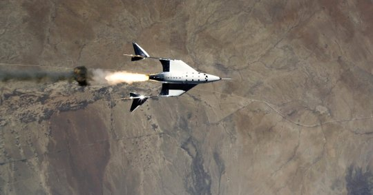 Virgin Galactic rocket ship flies to fringe of space (AP)