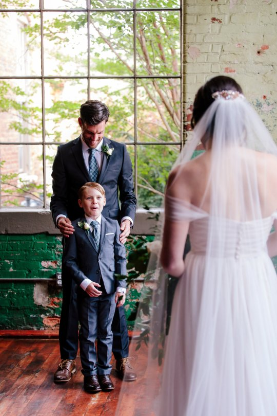 Jude Seabolt burst into tears after seeing his new stepmother Rebekah Seabolt in her wedding dress at her wedding to his father Tyler Seabolt.