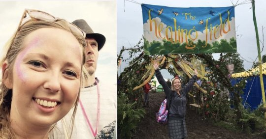 Hannah says the volunteers see the best and worst of Glastonbury