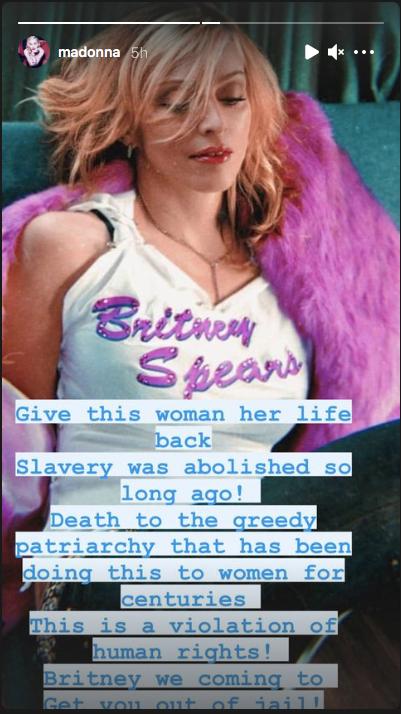 Madonna defends Britney Spears
