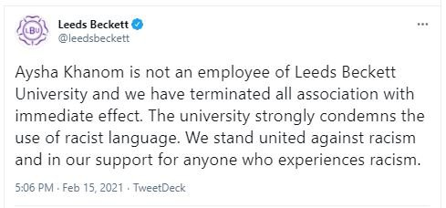 Academic sues uni for discrimination after being sacked for 'racist' tweet    Metro News