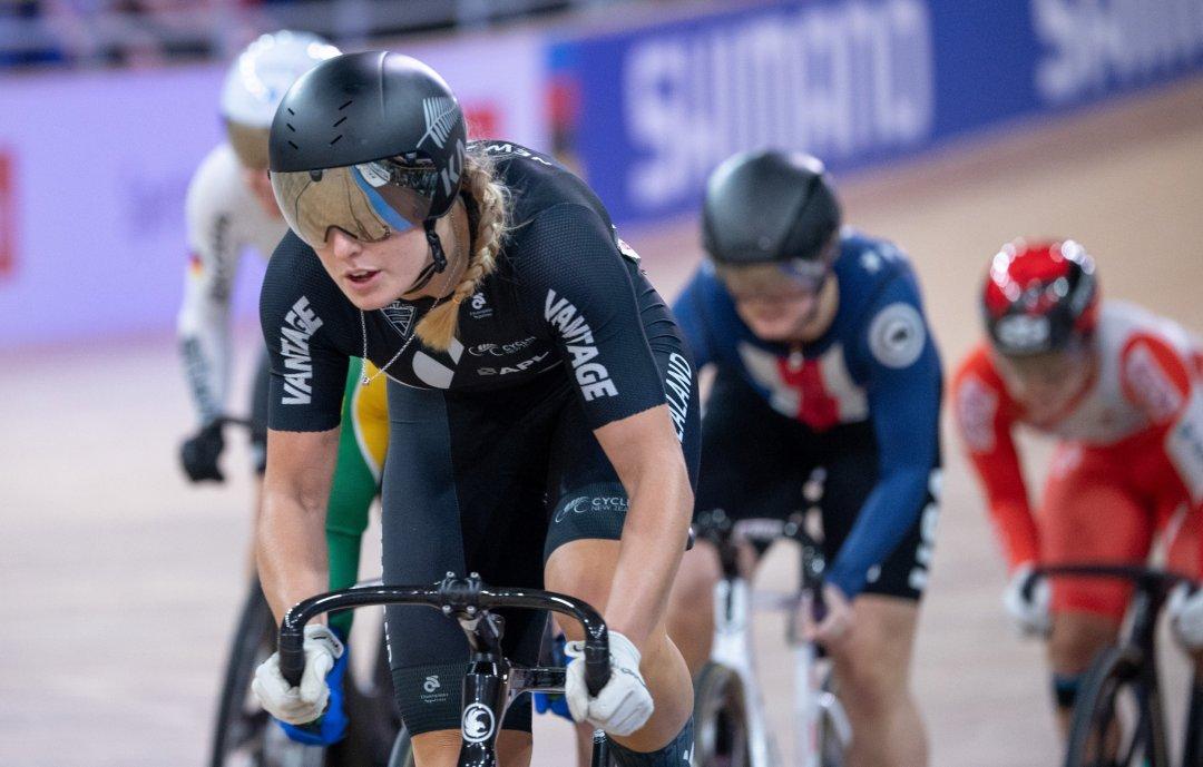 Olivia Podmore cycling
