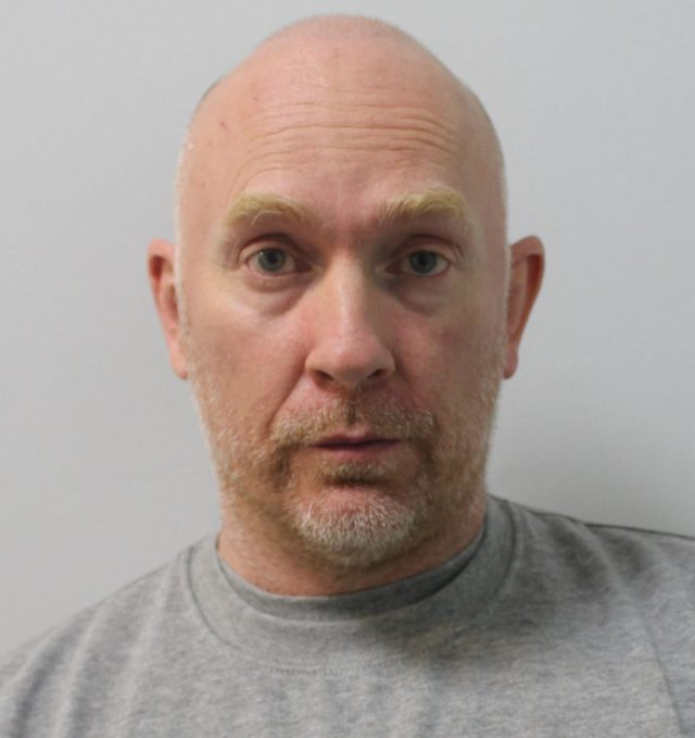 Wayne Couzens, 48, who pleaded guilty to the murder of Sarah Everard, via video link at London's Old Bailey court.