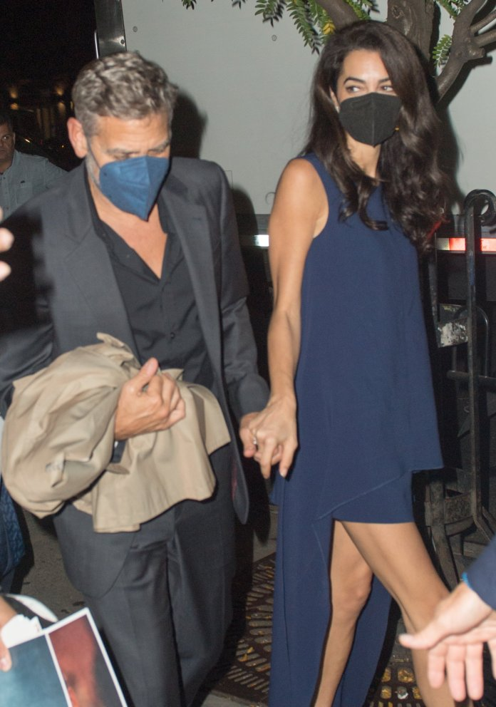 George Clooney and his wife Amal Clooney dine at One if by Land Two if by Sea and then head back to their hotel in New York city
