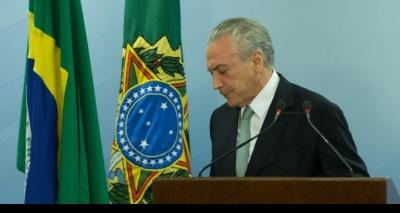 OAB apresenta à Câmara pedido de impeachment do presidente Michel Temer