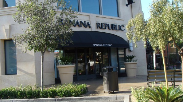 Commercial Awnings Fabricated for Banana Republic Las Vegas, Nevada Location