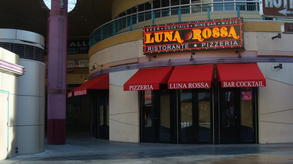 Custom Awnings for Luna Rossa in Las Vegas, Nevada by Metro Awnings & Iron