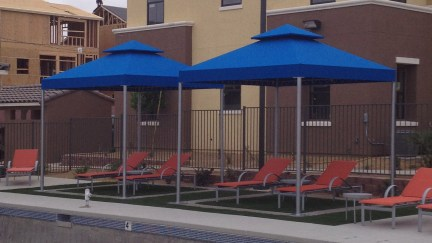 Custom Pool Side Canopies from Metro Awnings & Iron in Southern Nevada