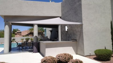 Custom Shade Sail manufactured by Metro Awnings & Iron