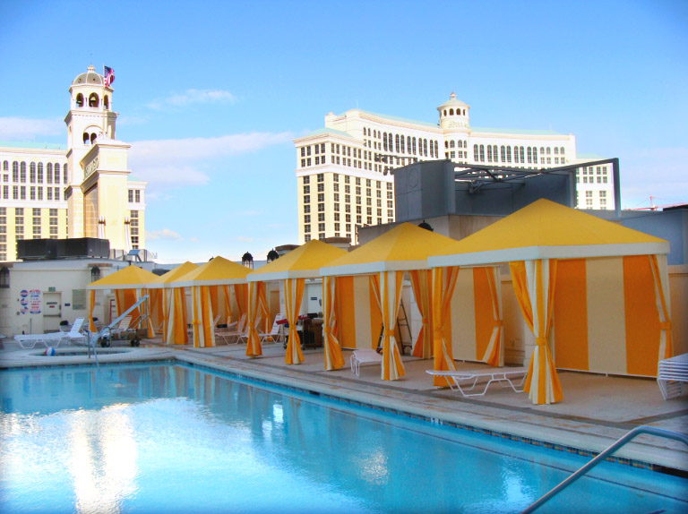 Custom Beach Cabanas by Metro Awnings & Iron in Las Vegas, NV