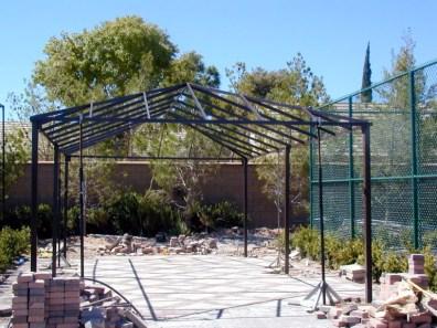 Custom Shade Structure Iron Work by Metro Awnings & Iron of Las Vegas
