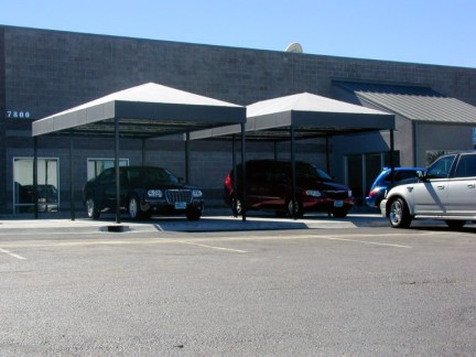 Custom Commercial Parking Shade Structures by Metro Awnings & Iron