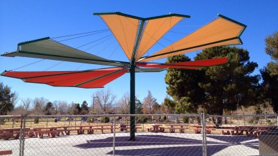 Beautiful Custom Shade Sail Design by Metro Awnings of Las Vegas, Nevada - Nevada Parks & Recreation
