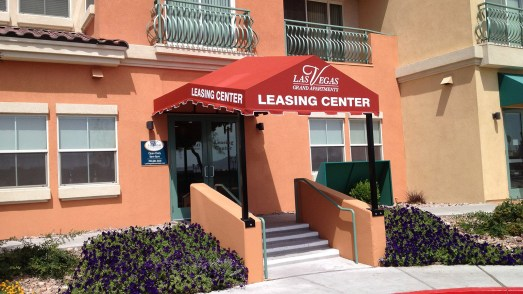 Leasing Center Commercial Awning by Metro Awnings