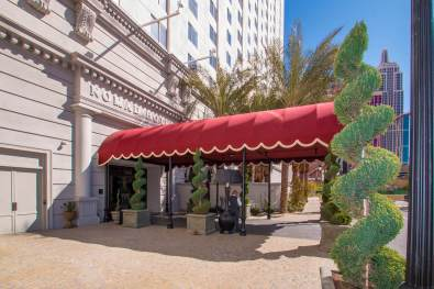 NoMad Hotel Custom Entryway Canopy Fabricated by Metro Awnings of Las Vegas, Nevada