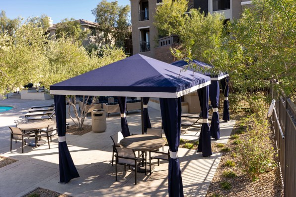 Top-view of Custom Cabanas by Metro Awnings of Las Vegas, Nevada - Nevada's Shade Expert