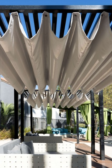 Poolside Custom Cabanas Designed and Fabricated by Metro Awnings of Southern Nevada