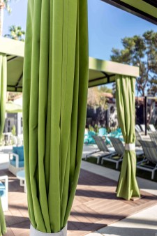 Custom Poolside Cabanas with Beautiful Cabana Curtain Design - Metro Awnings of Southern Nevada