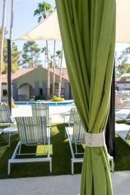 Custom Poolside Cabanas with Beautiful Cabana Curtain Design - Metro Awnings of Southern Nevada