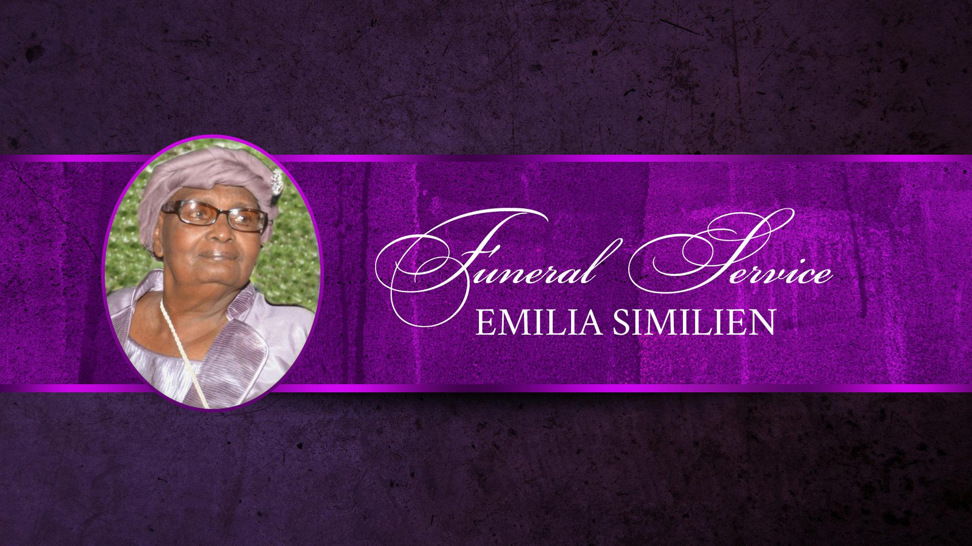Funeral Service   Emilia Similien
