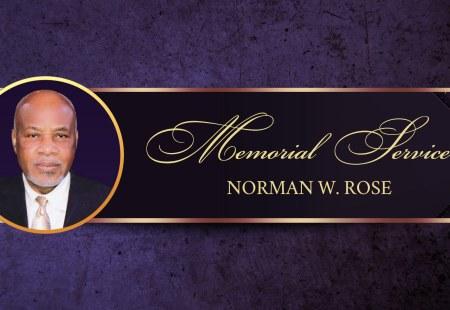 Memorial Service | Mr. Norman Rose